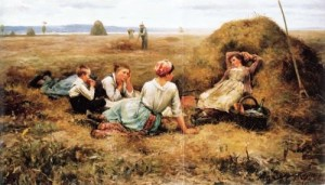 the harvesters resting